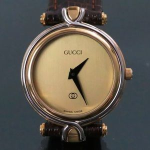 Auth GUCCI Wristwatch 4500L Swiss Made Gold-Tone